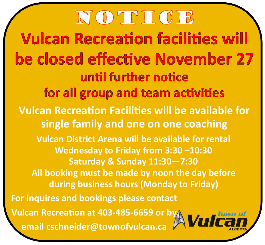 Recreation Facility Closure